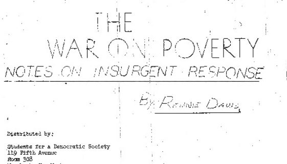 thumbnail of The War on Poverty- Notes on Insurgent Response, by Rennie Davis-ilovepdf-compressed