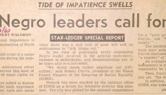 Tide of Impatience Swells- NJ Negro leaders call for talks (Star Ledger June 23, 1963)