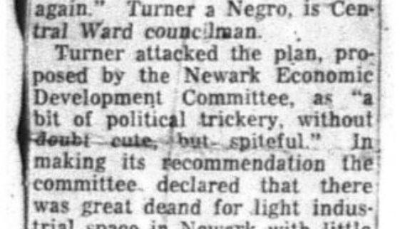 Turner Raps Zoning Plan (March 25, 1956)