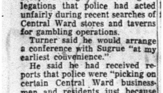 Turner Seeks Search Probe (January 8, 1956)