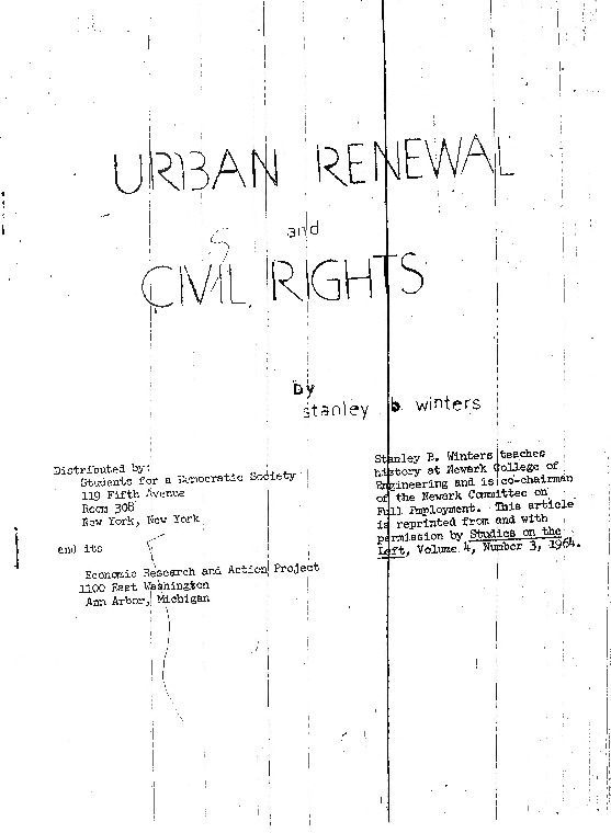 Urban Renewal and Civil Rights