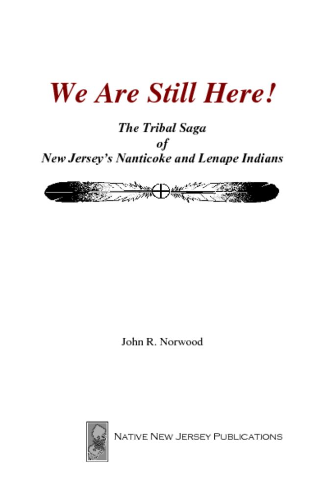 thumbnail of -We Are Still Here,- by Dr. John R. Norwood