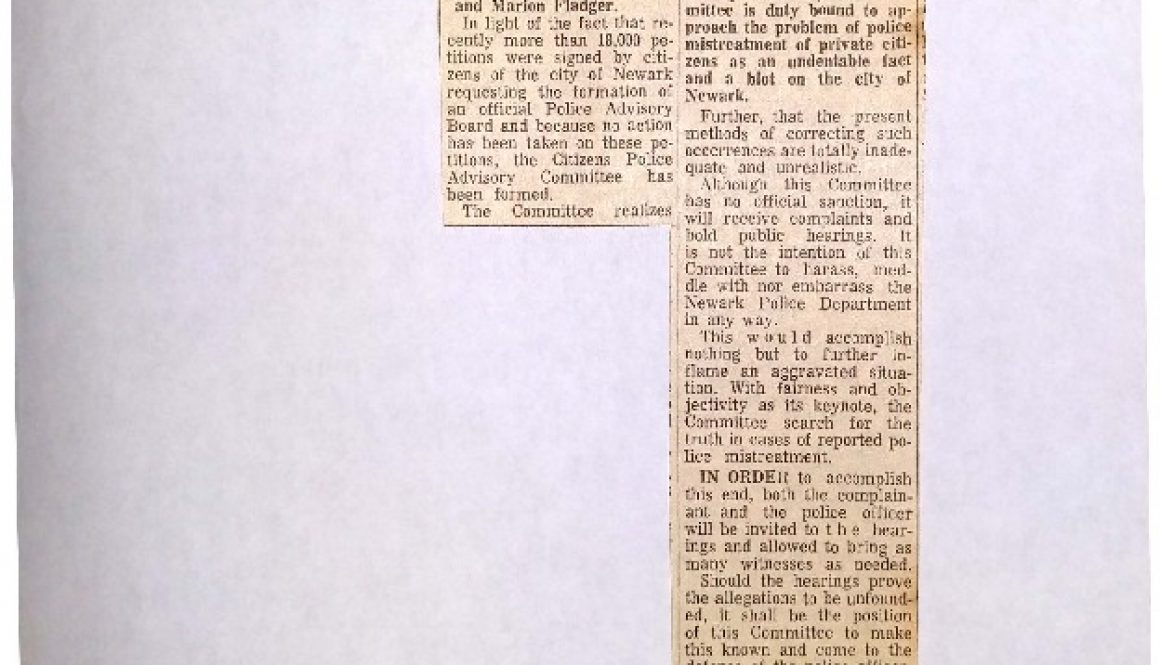 thumbnail of Why Citizens Advisory Board was organized (May 11, 1963)