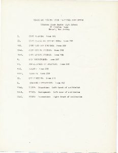 "List of workshop titles and locations for the Black and Puerto Rican Convention, held in Newark from November 14-16, 1969 to formally select the ""Community's Choice"" for Mayor and City Council in the 1970 election."