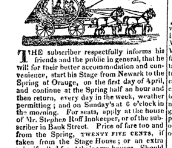 Thomas Thompson Stagecoach Advertisement