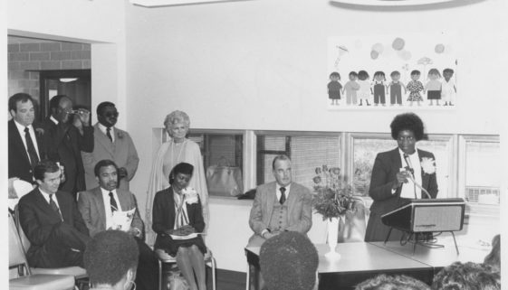 Mary Smith Speaks at a Meeting