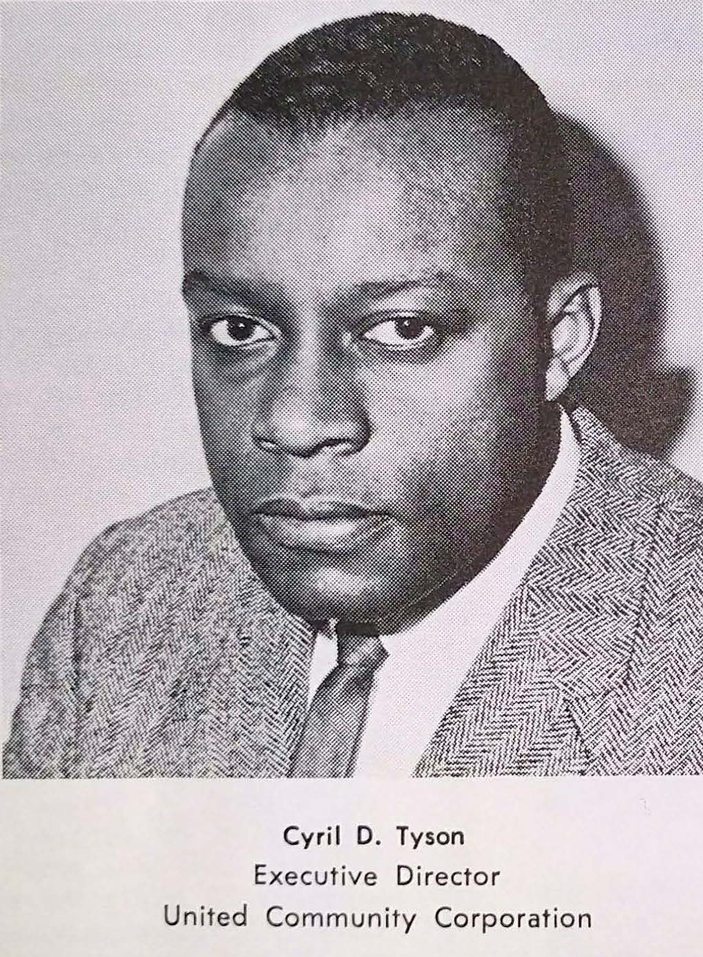 Photo of Cyril Tyson from UCC Program Report, 1965-1966