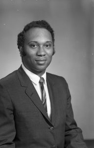Portrait of educator and civil rights activist Dr. Fred Means, taken in 1970 by Newark photographer Al Henderson. -Credit: Newark Public Library