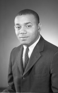 Portrait of Robert Curvin, civil rights activist, Newark community leader, and scholar, taken by photographer Al Henderson in 1964. -Credit: Al Henderson, Newark Public Library
