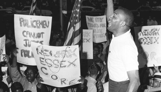 Robert Curvin Speaks at Military Park Rally, 1965 (Wally Akerberg:The Star-Ledger)