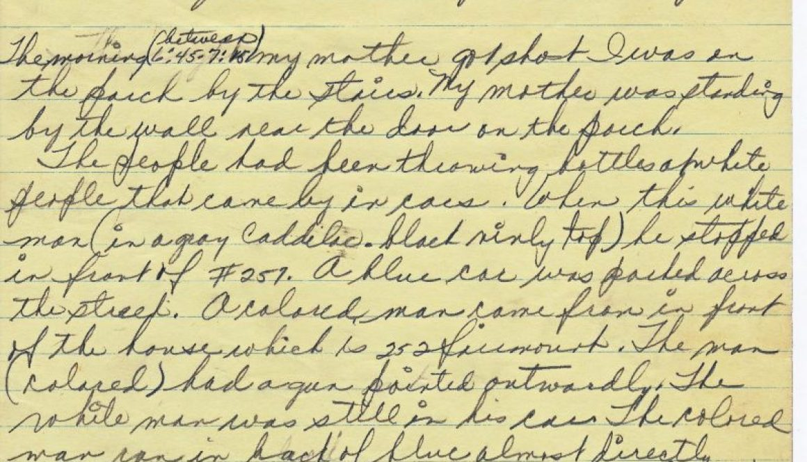thumbnail of Statement of Delores Jones (Daughter)