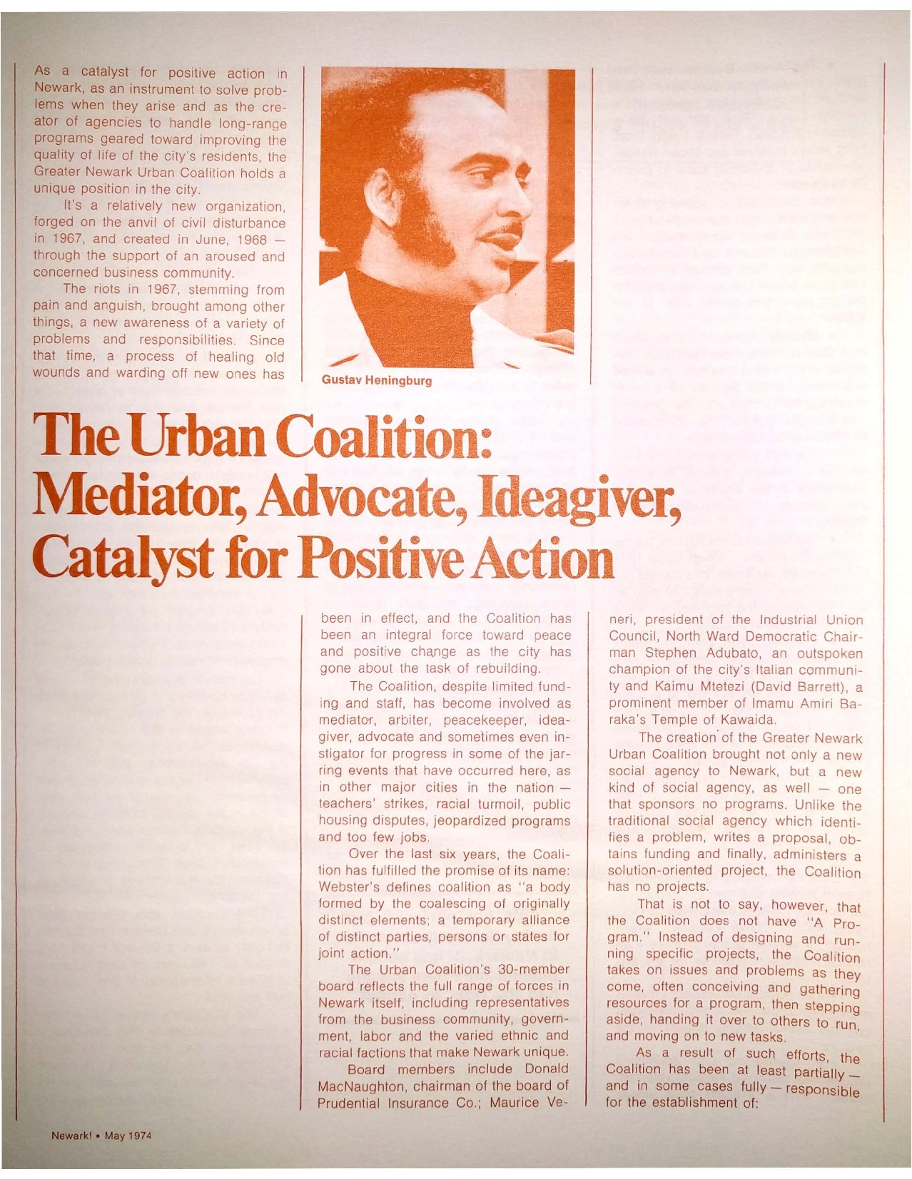 The Urban Coalition (1974)