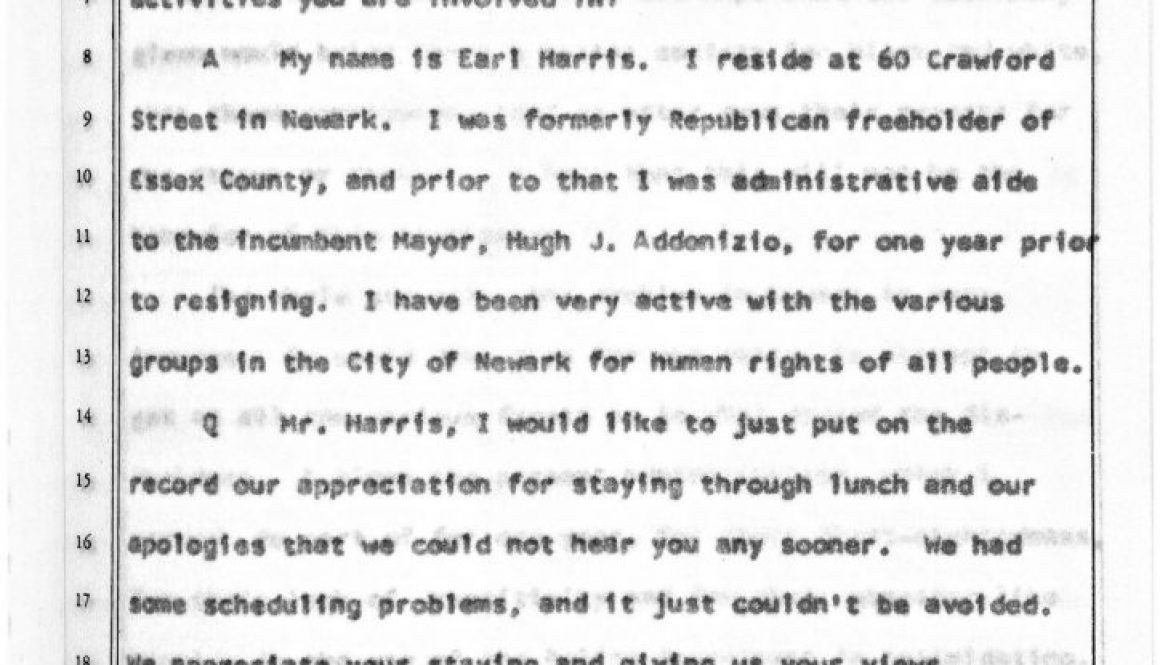 thumbnail of Witness Testimony of Earl Harris Before the Governor's Select Commission on Civil Disorder (Dec 8, 1967)-ilovepdf-compressed