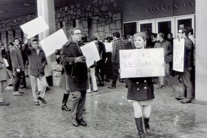 Counter-Demonstrations Outside Conklin Hall
