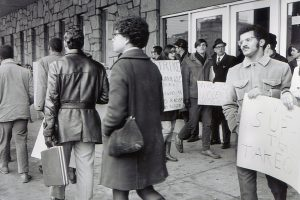 Demonstrators in Support of the Conklin Hall Takeover