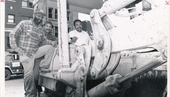 Mayor Ken Gibson Drives a Bulldozer