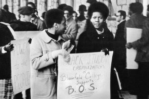 Members of the Bloomfield College Black Student Organization at Conklin Hall