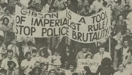 Rally Against Police Brutality and Imperialism, 1974