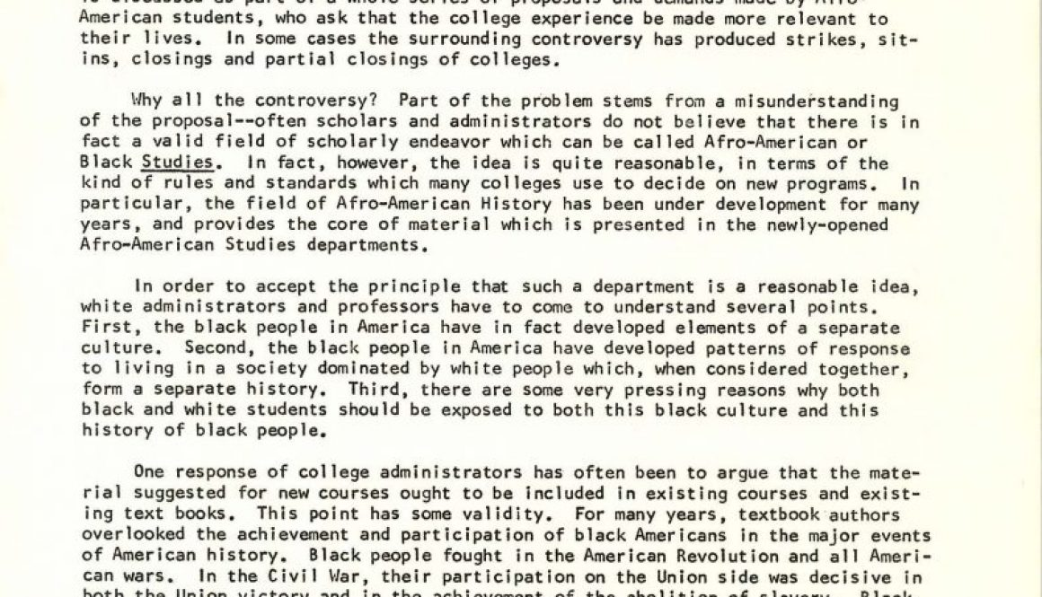 Rutgers Report on World Affairs (March 1, 1969)