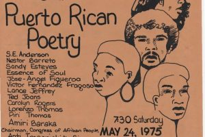 CAP Flyer for Black and Puerto Rican Poetry Event (1975)