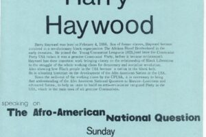 CAP Flyer for Harry Haywood Event (1976)