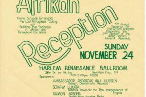 CAP Flyer for Pan Afrikan Reception in Harlem