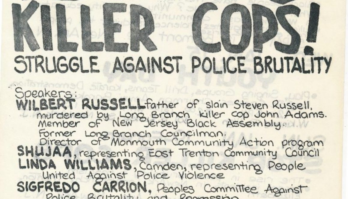 thumbnail of CAP Flyer for Stop Killer Cops Forum (1975)