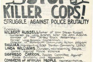 CAP Flyer for Stop Killer Cops Forum (1975)
