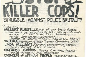 thumbnail of CAP Flyer for Stop Killer Cops Forum (1975)
