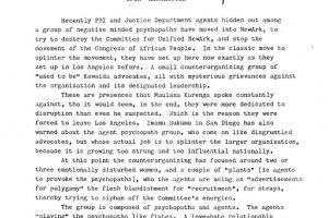 CFUN Newsletter (On FBI Surveillance)