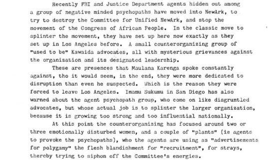 thumbnail of CFUN Newsletter- On FBI surveillance and counterintellegence