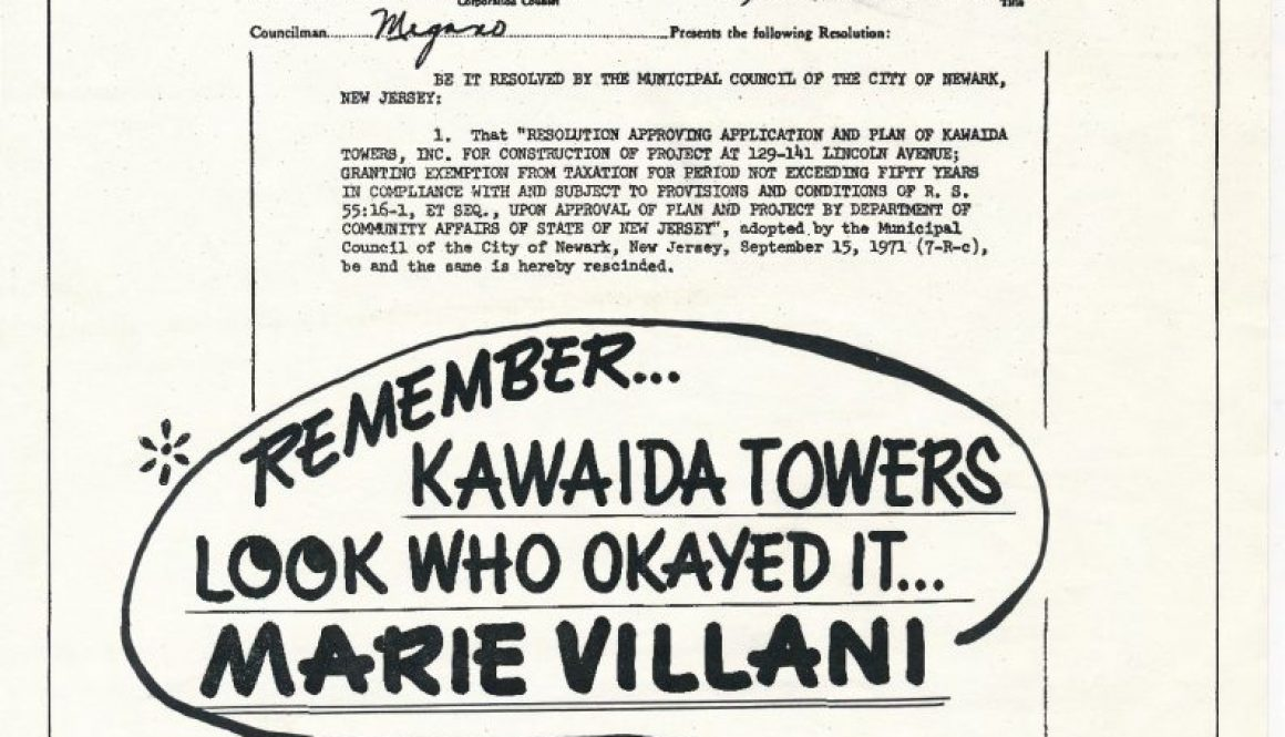 thumbnail of Flyer Against Kawaida Towers and Marie Villani (1978)