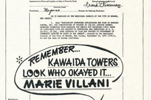 Campaign Flyer Against Marie Villani (1978)