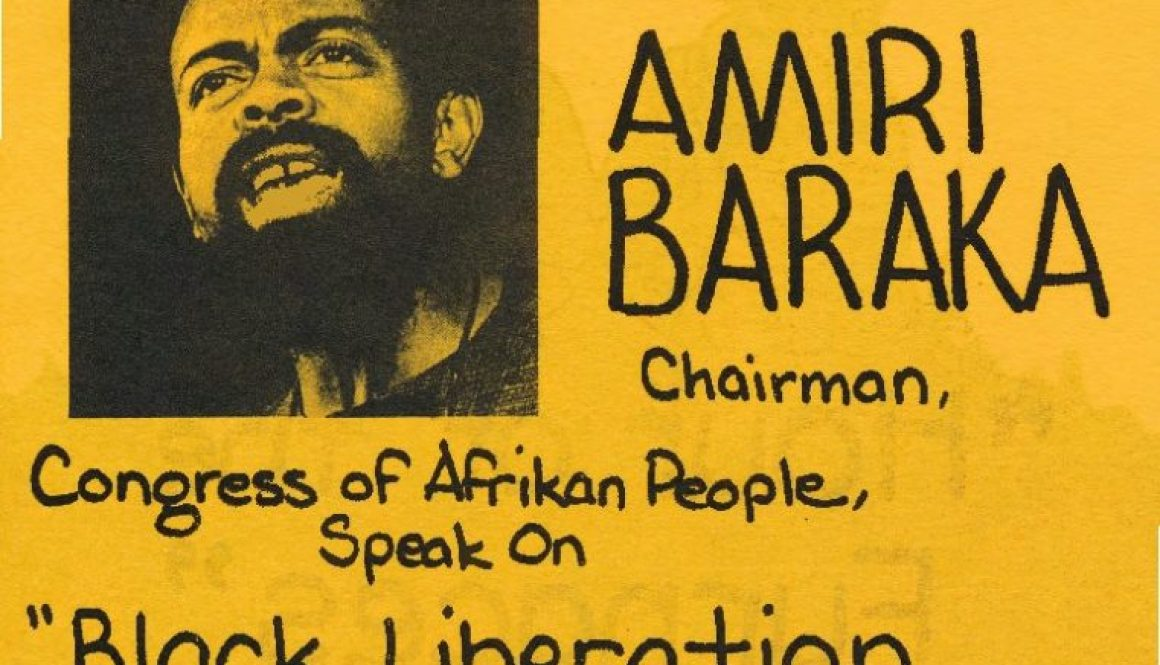 thumbnail of Flyer for Amiri Baraka Speech (1974)