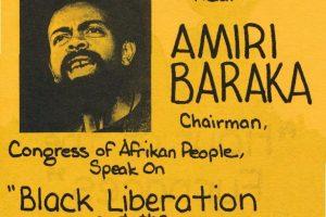 Flyer for Amiri Baraka Speech (1974)
