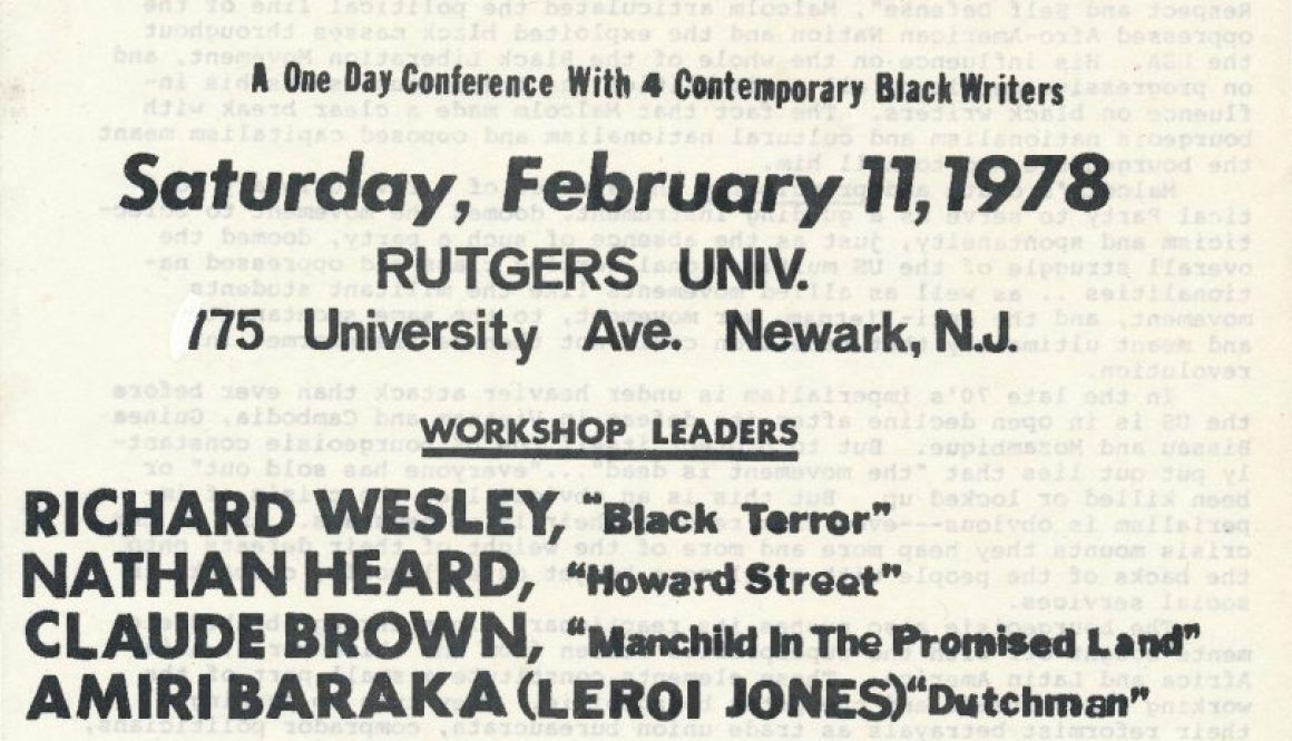 thumbnail of Flyer for Black Writer's Conference (1978)