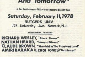 Flyer for Black Writer's Conference (1978)