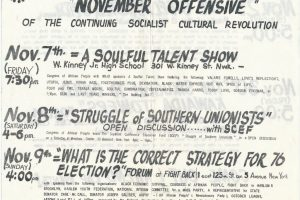 thumbnail of Flyer for Congress of Afrikan People Events (1975)