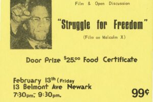 Flyer for Malcolm X Film Discussion at Hekalu (1976)