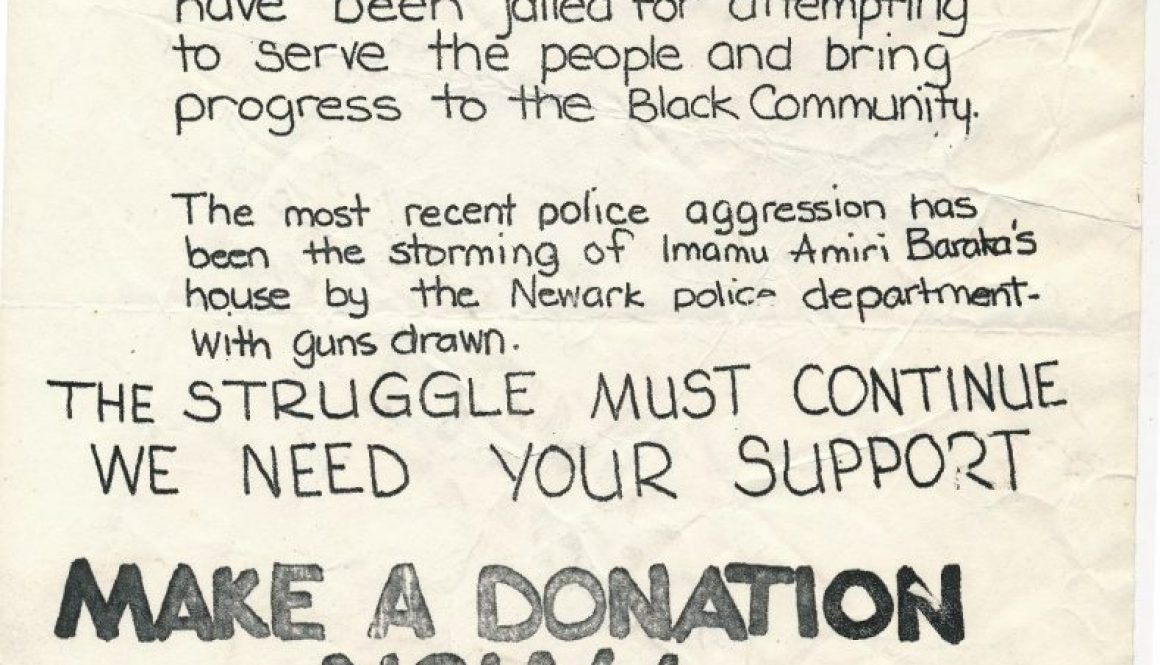 thumbnail of Flyer to Support Kawaida Bail Fund (1974)