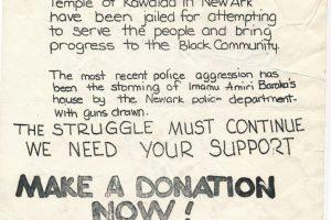 Flyer to Support Kawaida Bail Fund (1974)