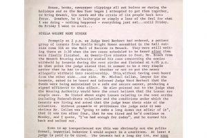 Operation Understanding Newsletter on Stella Wright Tenant Strike (Jan 18, 1972)