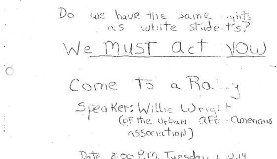 thumbnail of United AfroAmerican Association Flyer- Barringer Rally