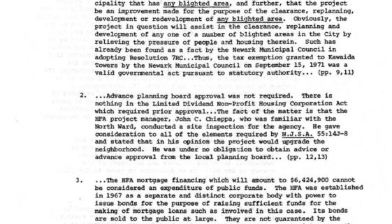 thumbnail of Extracts from Court Decision in Cervase and Imperiale v Kawaida Towers, Inc (July 10, 1973)