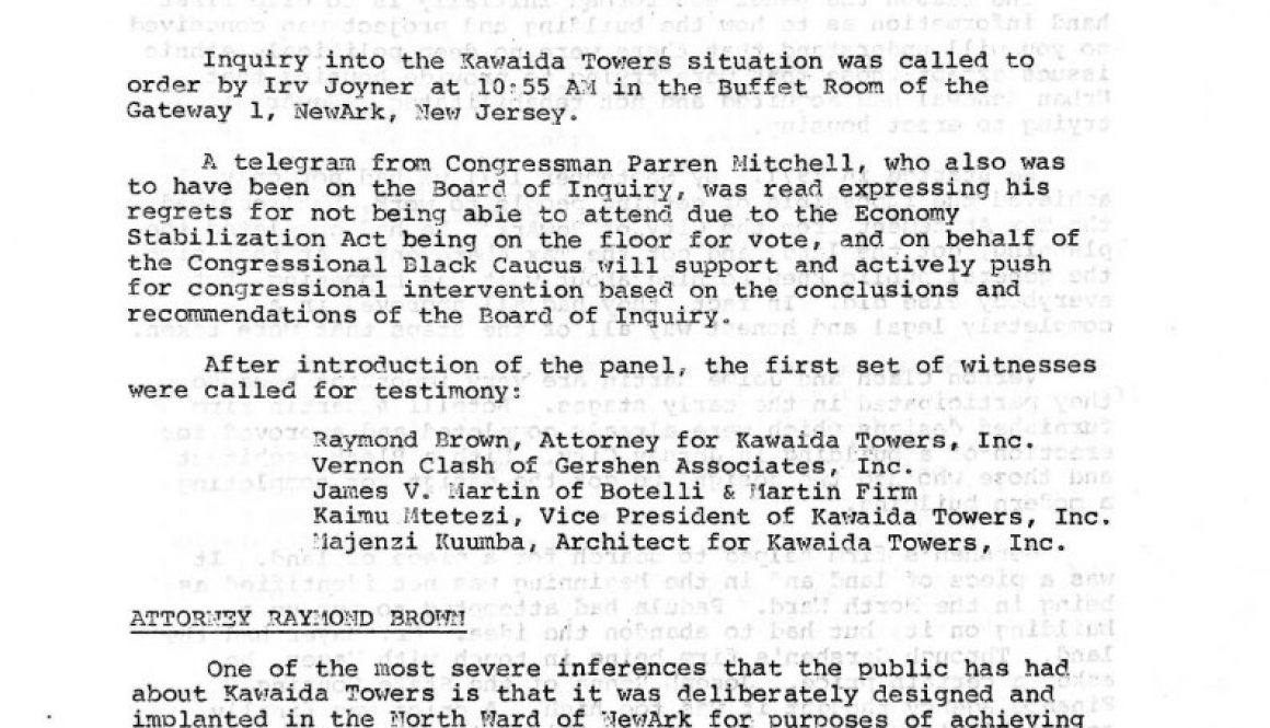 thumbnail of National Black Assembly Kawaida Towers Inquiry (April 16, 1973)