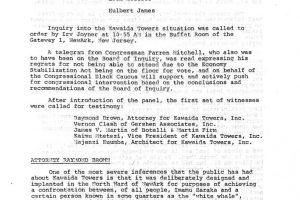 National Black Assembly Kawaida Towers Inquiry (April 16, 1973)