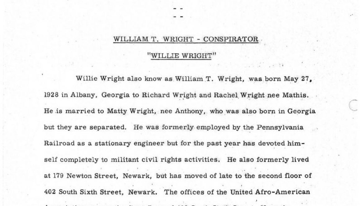 thumbnail of Newark Police Dept Report on Willie Wright (Capt Charles Kinney)