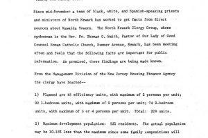 thumbnail of North Ward Clergy Group Press Release on Kawaida Towers (undated)