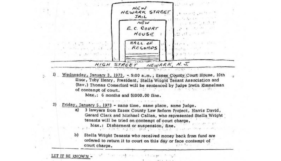 thumbnail of Operation Understanding Newsletter on Stella Wright Rent Strike (Dec 26, 1972)