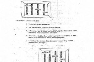 Operation Understanding Newsletter on Stella Wright Rent Strike (Dec 7, 1972)